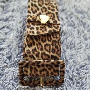 Leopard Fabric Belt
